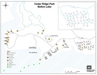 Cedar Ridge campground map 2 of 2 click for larger/printable image